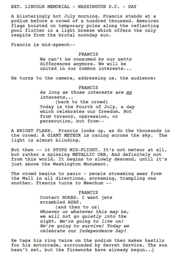 house of cards season 3 script april fools day prank