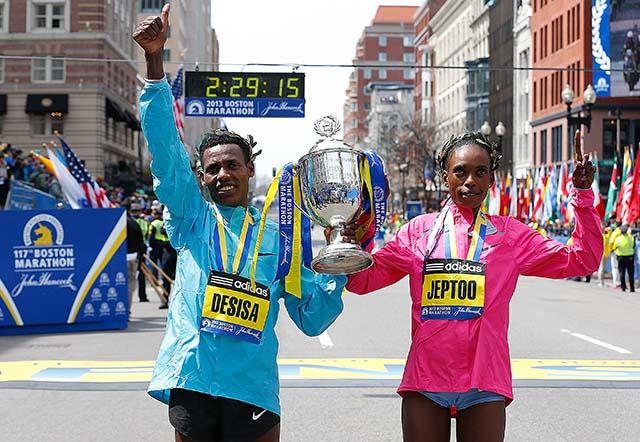 Rita Jeptoo, Lelisa Desisa Benti, Boston Marathon