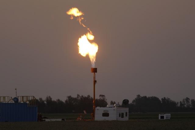 fracking fire