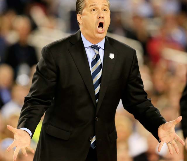 John Calipari UK Kentucky Coach NCAA National Championship Game