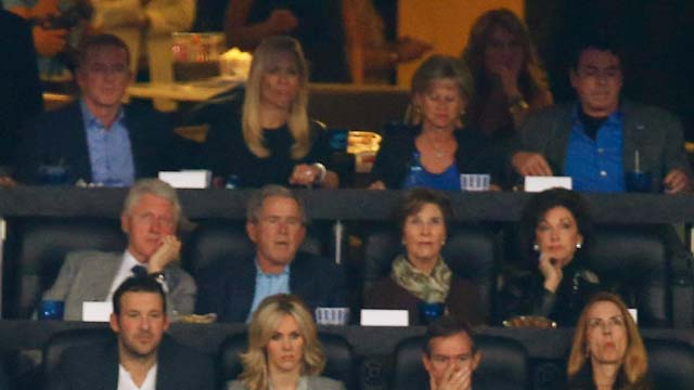 Bill Clinton George W. Bush NCAA Championship game