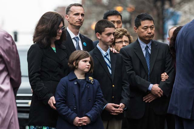 Martin Richard, families, Boston Marathon bombing anniversary ceremony