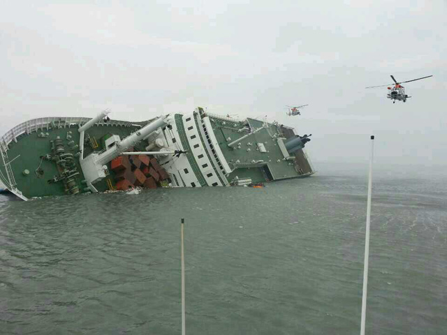south korea ferry sinks, sewol