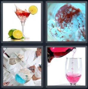 4 Pics 1 Word Answer for Cocktail, Blood, Scientists, Pour   Heavy.com