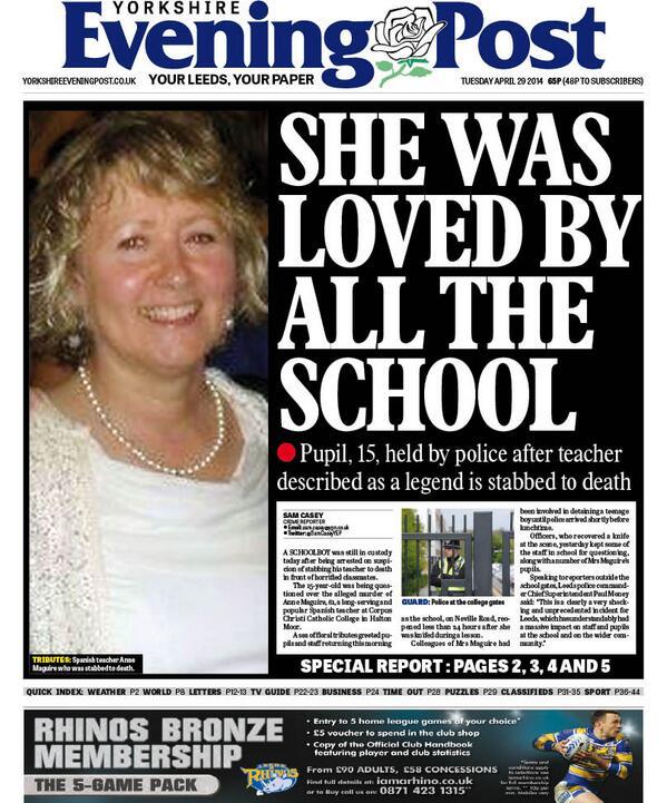 Anne Maguire Murder Scene