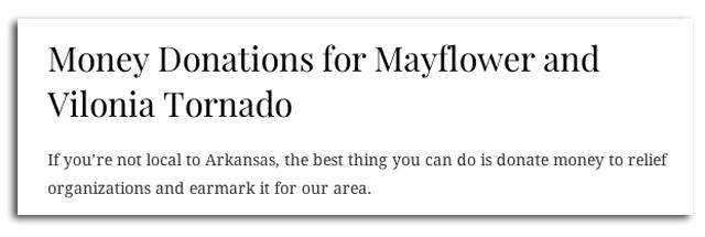 mayflower donations