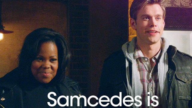 samcedes, samcedes glee, amber riley song, chord overstreet pictures