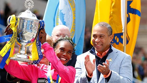 Rita Jeptoo, Deval Patrick, Boston Marathon
