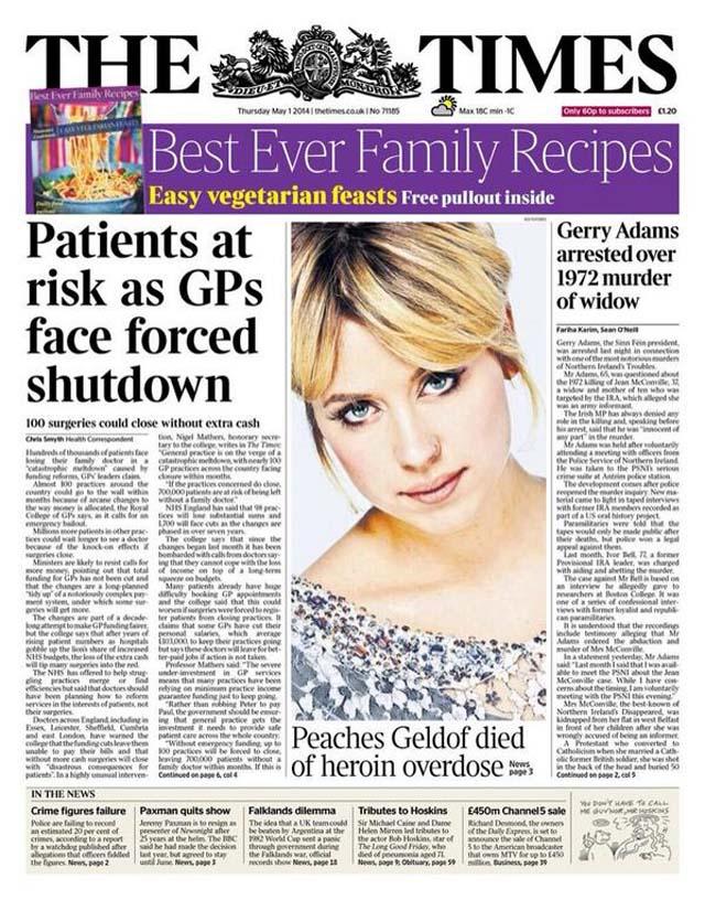 Peaches Geldof Cause of Death Heroin Overdose
