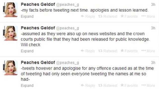 Peaches Geldof Twitter Ian Watkins
