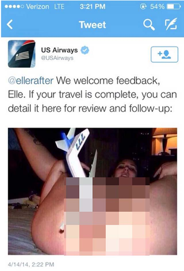 us airways twitter masturbation
