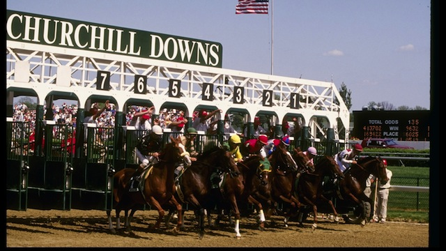 Churchill Downs Race Track in Louisville, Kentucky is the site of the Kentucky Derby. Getty)