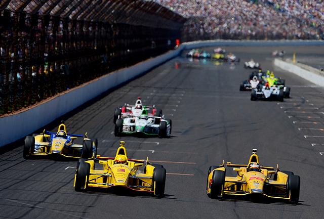 98th Indianapolis 500- finish line