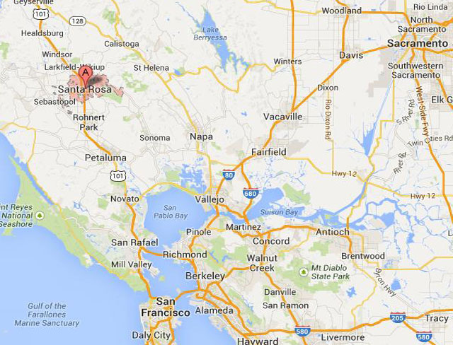Santa Clara, Calif. is roughly an hour north of San Francisco.