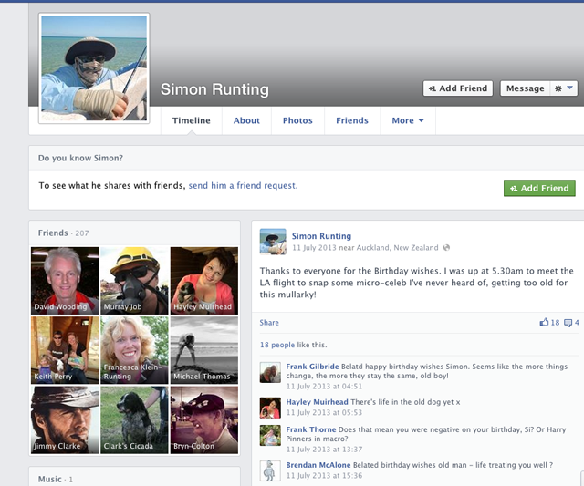 Simon Runting Facebook Page Lorde