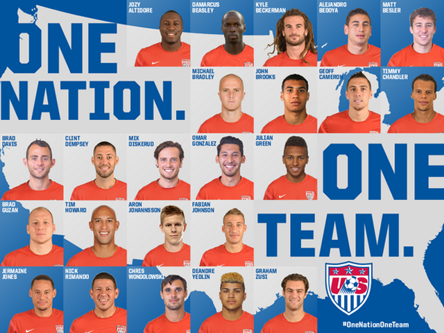US Roster World Cup 2014