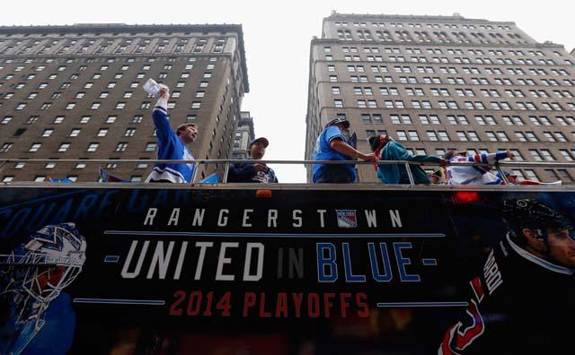 Rangers fans Madison Square Garden