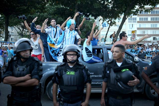 Argentina Fans Rio World Cup 2014