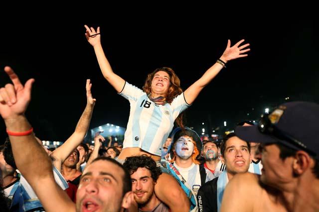 Argentina fans Rio
