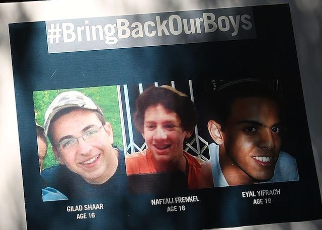 kidnapped Israeli boys