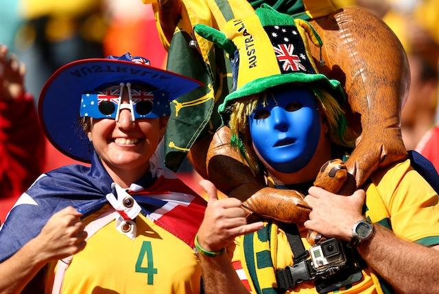 Australia fans, World Cup, Australia vs. Netherlands