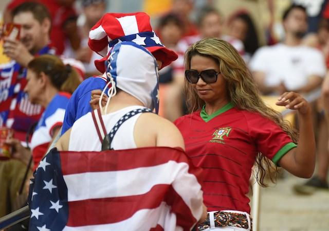 USA vs. Portugal, USA-Portugal game, USA and Portugal fans
