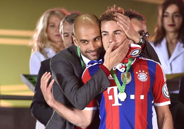 Mario Gotze Pep Guardiola