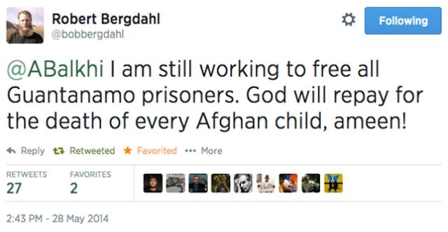 bob bergdahl tweet, bowe bergdahl father