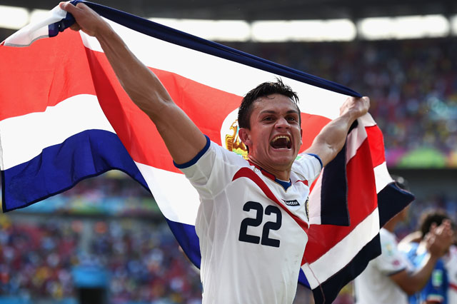 Jose Miguel Cubero, Costa Rica beats Italy, Italy vs. Costa Rica