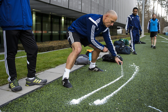 World Cup, World Cup 2014, vanishing spray, white lines for goal marking, vanishing spray on field for World Cup, first time vanishing spray used in World Cup, magic white lines for referees, magic spray, referee help
