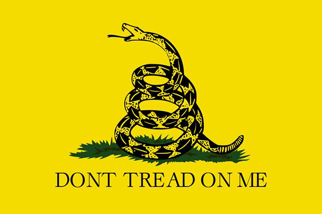 Las Vegas shooting, Gadsden flag, Don't Tread on Me