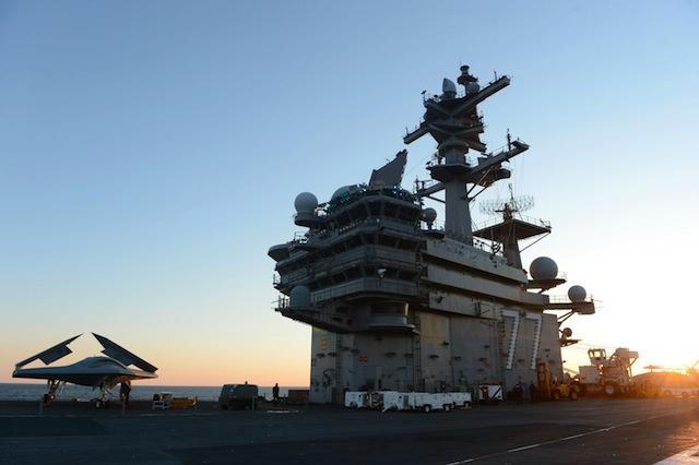 Aircraft carrier USS George H.W. Bush. (Getty)