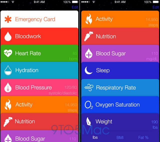 healthbook features