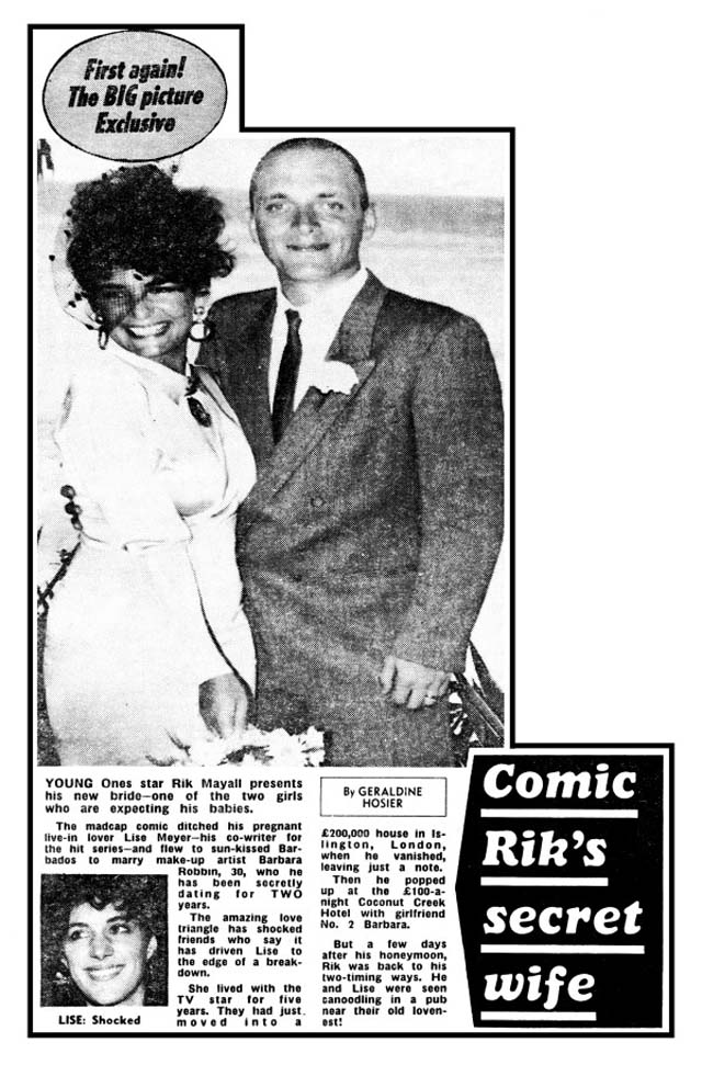 Rik Mayall Married Barbara Mayall
