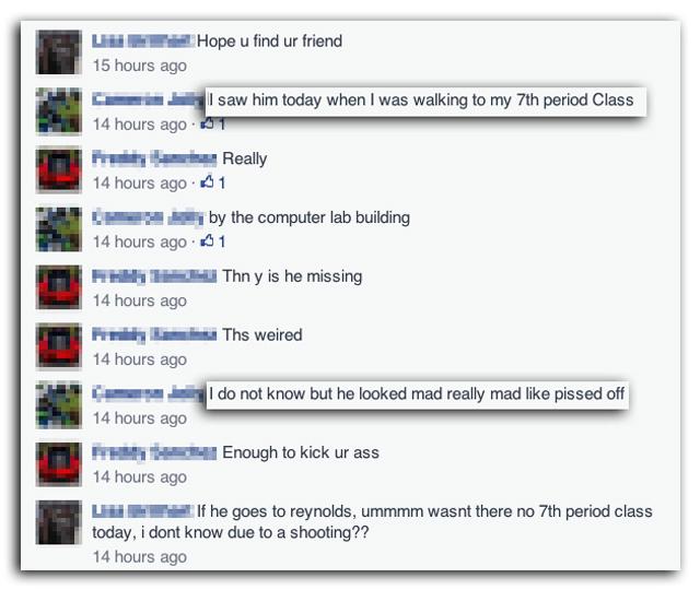 jared michael padgett, reynolds high shooting, Jared Michael Padgett Facebook