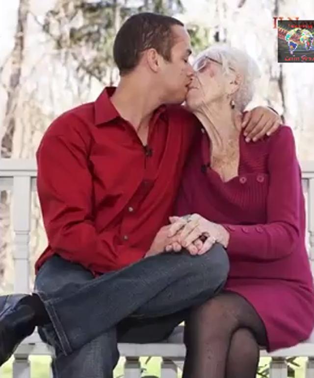 kyle jones, old lady, grandma, dating, relationship