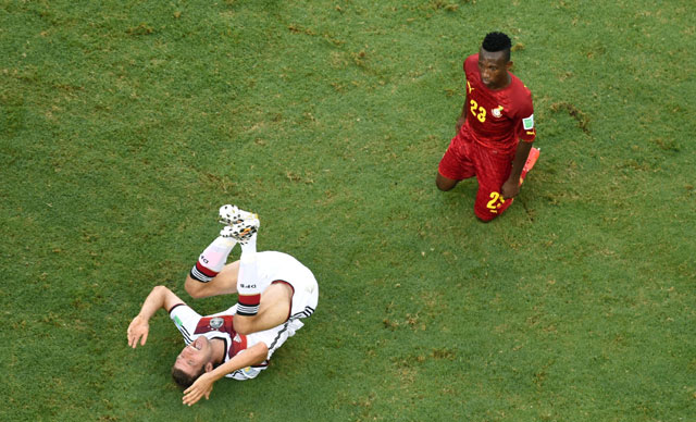 Thomas Muller stitches, Germany World Cup