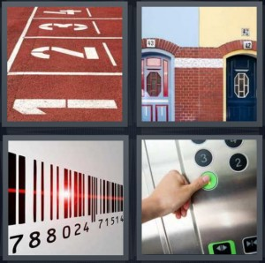 4 Pics 1 Word Answer for Track, Doors, Barcode, Button | Heavy.com
