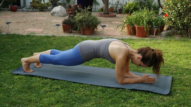 Plank back exercise