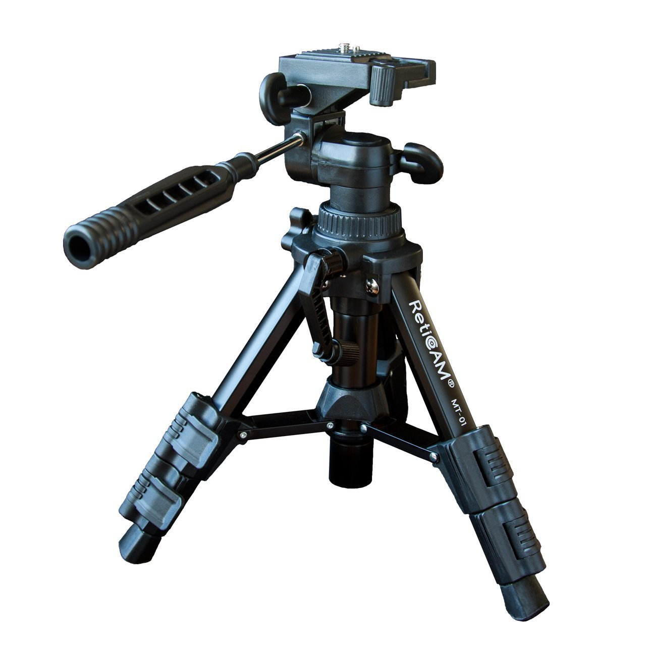 BWAM-elck Travel Tripod Monopod Aluminum Alloy Mini Tripod Color : Black, Size : One Size Desktop Tabletop Stand Compact Tripod for Projector Camera Ideal for Travel and Work