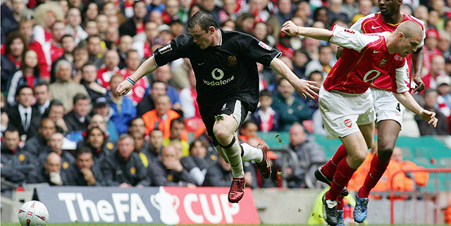 Wayne Rooney, Manchester United, World Cup, soccer, FA cup final, 2005