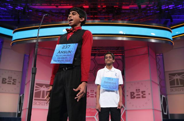 Sriram Hathwar, Ansun Sujoe, Scripps National Spelling Bee, Jimmy Kimmel, Jimmy Kimmel Live