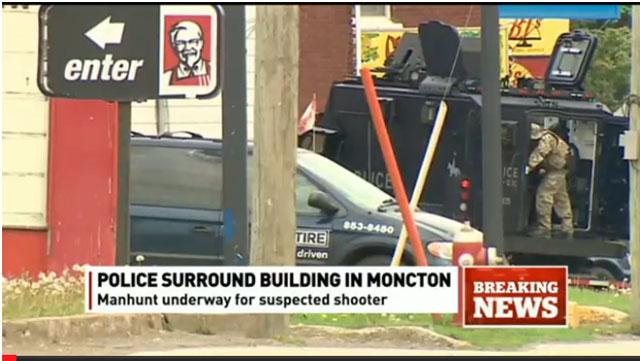 Justin Bourque surrounded, Justin Bourque manhunt, Moncton manhhunt, Moncton cop killer