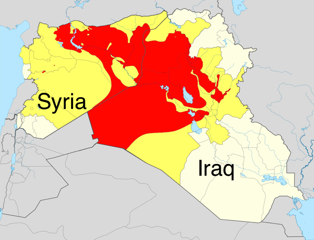 ISIL controlled iraq map
