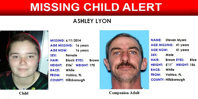 Steven Patrick Myers, Ashley Lyon, Florida, sex offender, convicted sex offender, child molestation, kidnapping