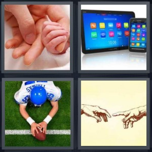 4 Pics 1 Word Answer for Hold, Screens, Football, Sketch ...