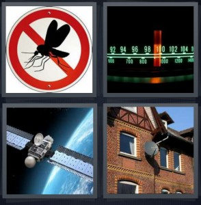 4 Pics 1 Word Answer For Mosquito Radio Space Satellite Heavy Com