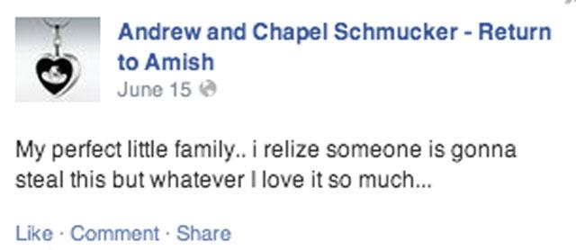 (Facebook/Andrew and Chapel Schmucker)