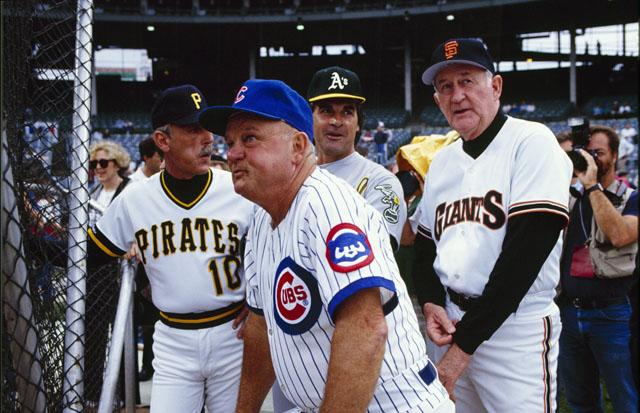Don Zimmer Cubs, Tony LaRussa, Jim Leyland, Roger Craig, 1990 All-Star Game