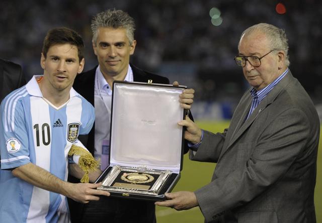 Julio Grondona Lionel Messi